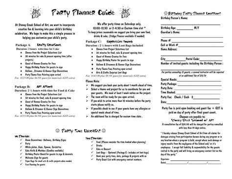 party planner contract template - Google Search cake pricing and