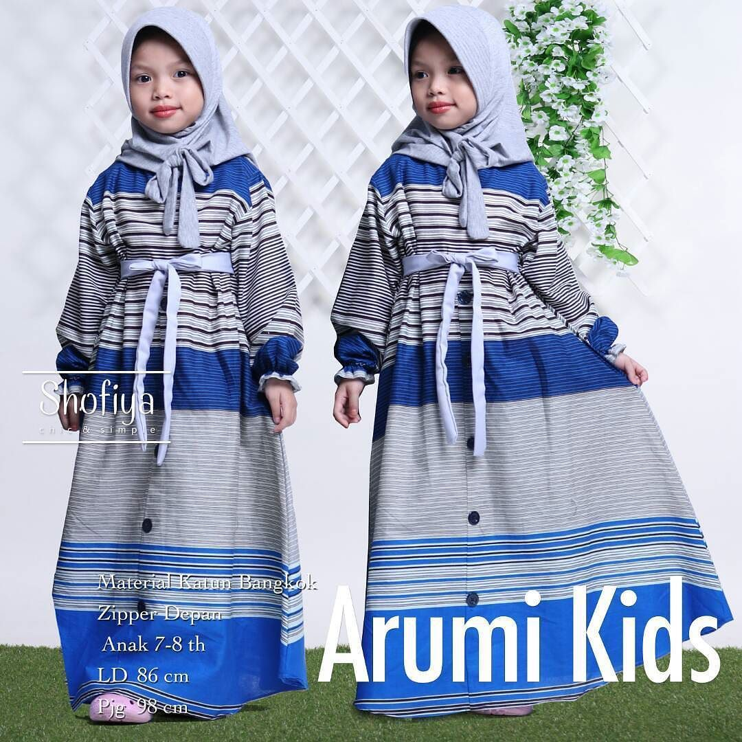 Arumi Kids Detail Sdh Ada Di Picture Yakak Dapatkan Keuntungan Tak Terbatas Dgn Menjadi Reseller Kami Info N Pemesanan 62 812 Hijab Chic Baju Muslim Anak