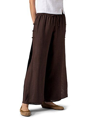Vivid Linen Double Layers PantsXXLDark BrownDark Brown ** Be sure to check out this awesome product.