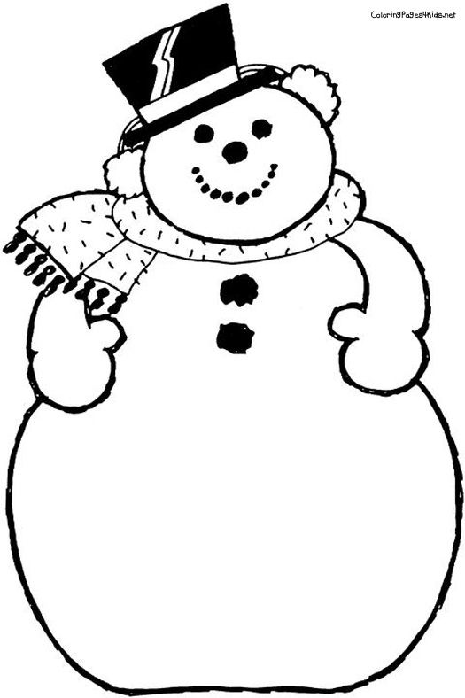 Free Printable Coloring Pages Snowman For Kids 2015