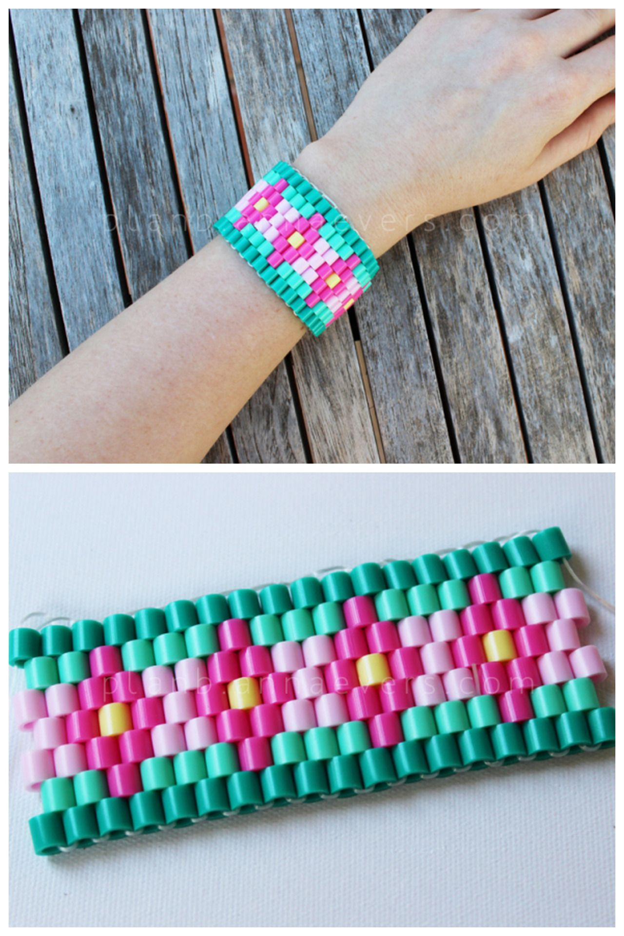easy how with to bead make bracelet hama watch beads perler elastic