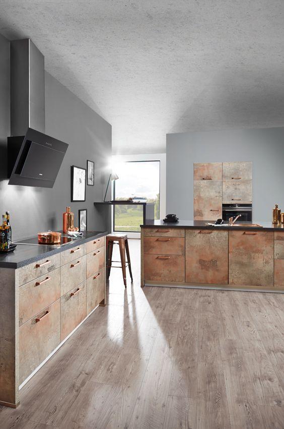 Moderne Küche In Kupfer