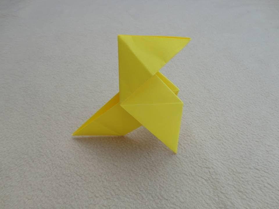 Papiroflexia Pajarita De Papel Origami Easy Bird Animales De Origami Papiroflexia Y Origami