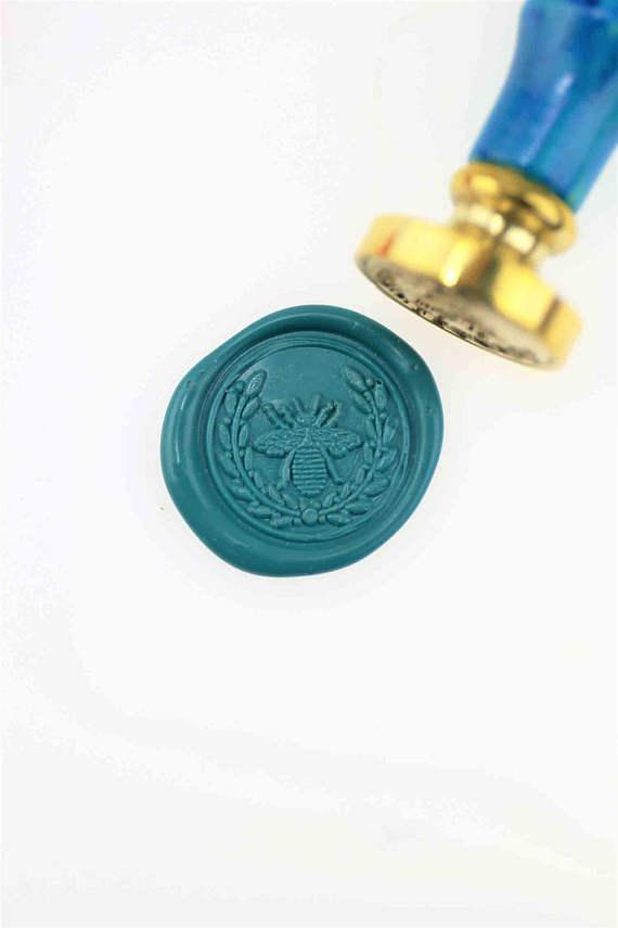 Custom wax Seal Kit wax stamp Mushroom Wreath seal Wax sealing wax stamp