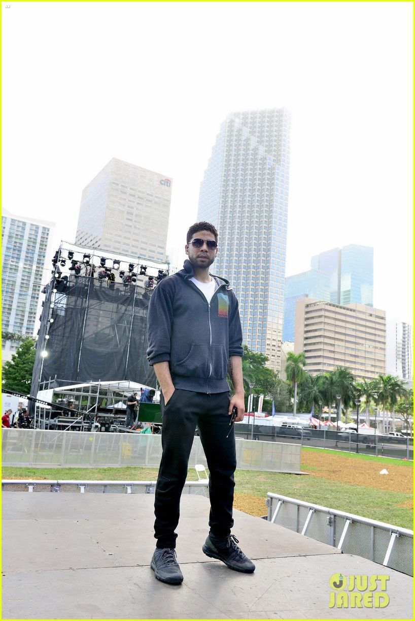 Empire's Jussie Smollett Rehearses for Miami New Year's