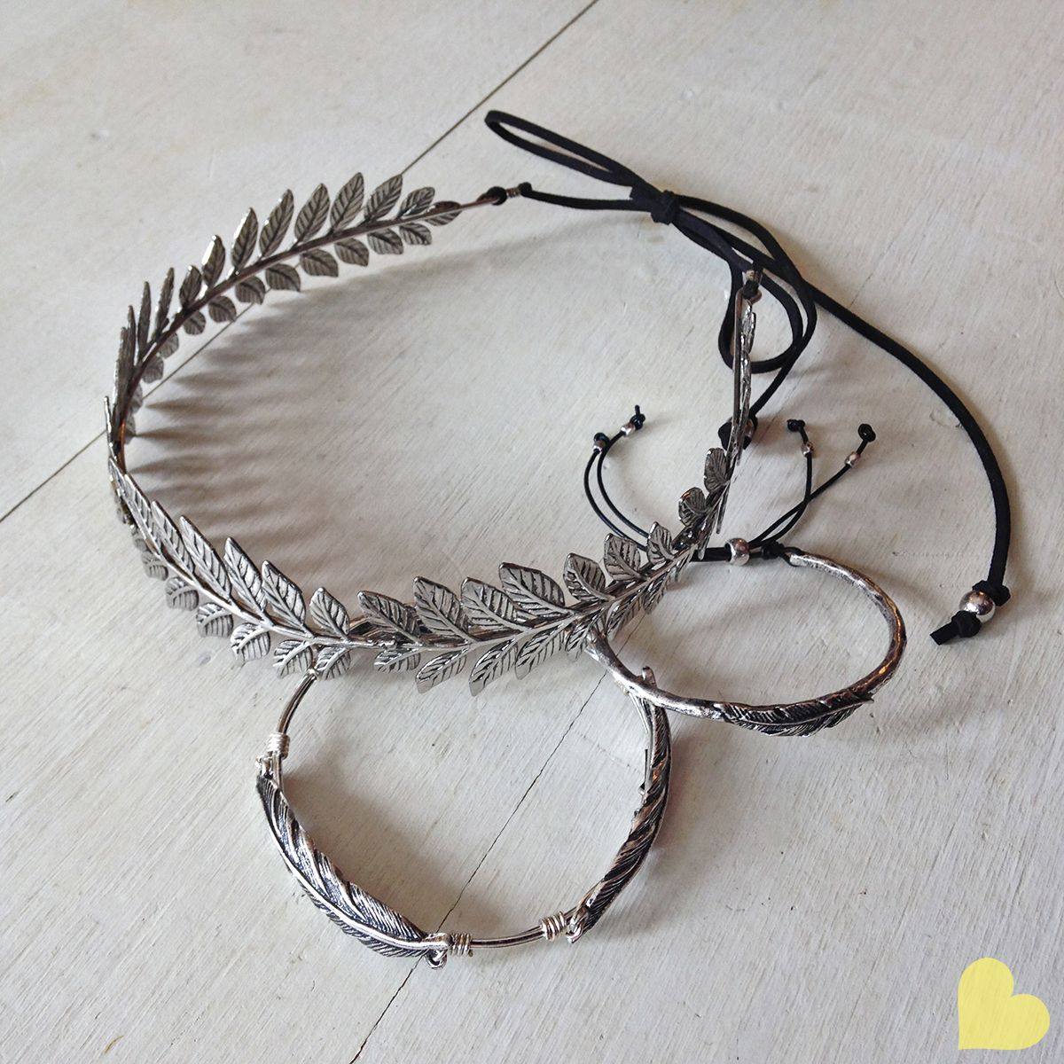 New accessories just hit the store, including these dreamy bracelets and crowns...also find feather and flower headbands, scarves, stacking bracelets, and tons of new styles of sunglasses!