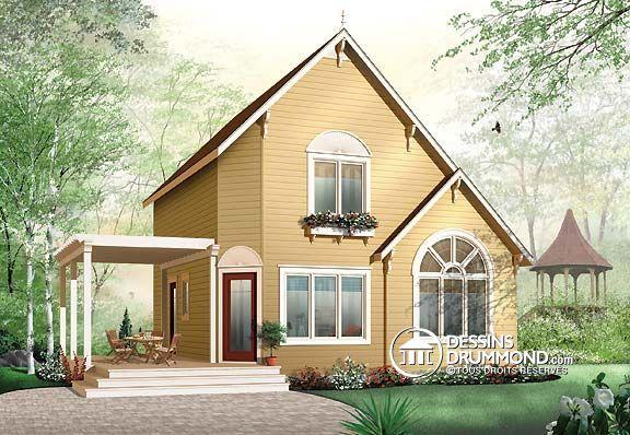 Plan De Maison Unifamiliale W4919A, Belle Maison De Style Cottage #chalet  Et Style Champêtre