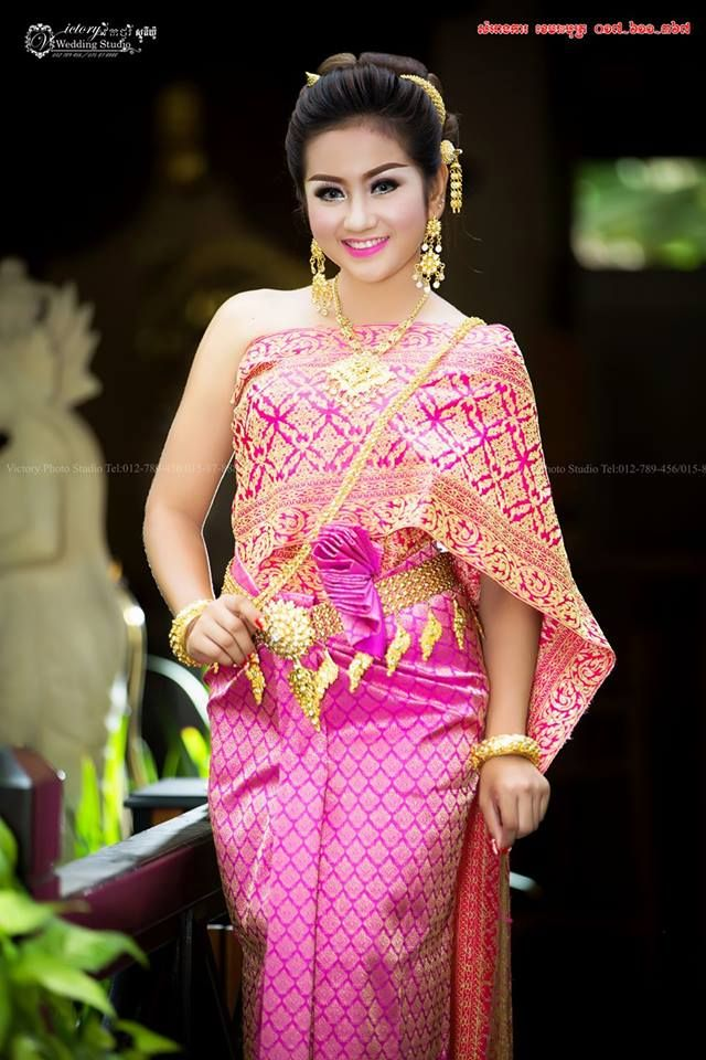 khmer wedding costume | Cambodian traditional attire | Pinterest