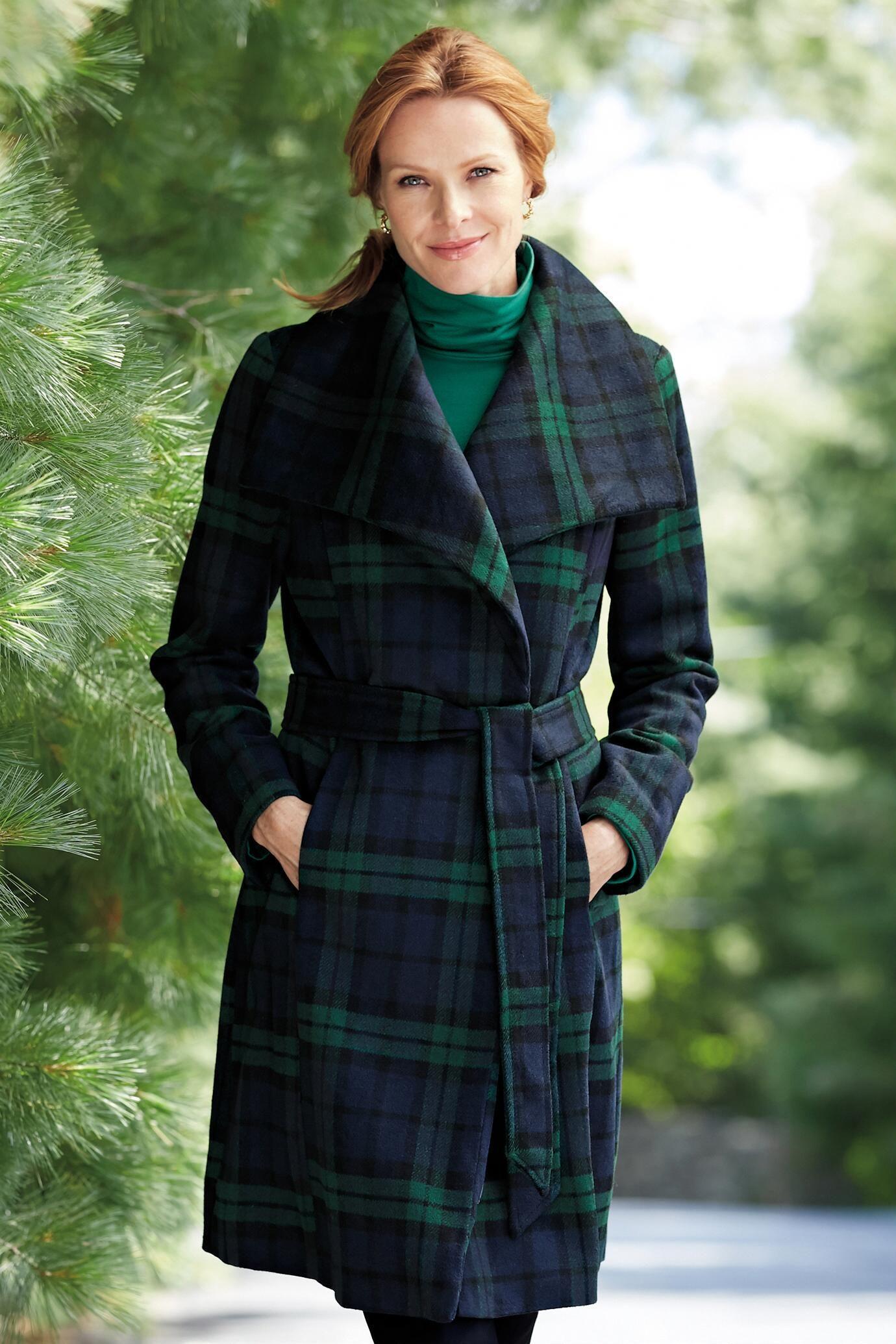 2d7a59f95 Tartan Plaid Coat: Classic Women's Clothing from #ChadwicksofBoston $99.99