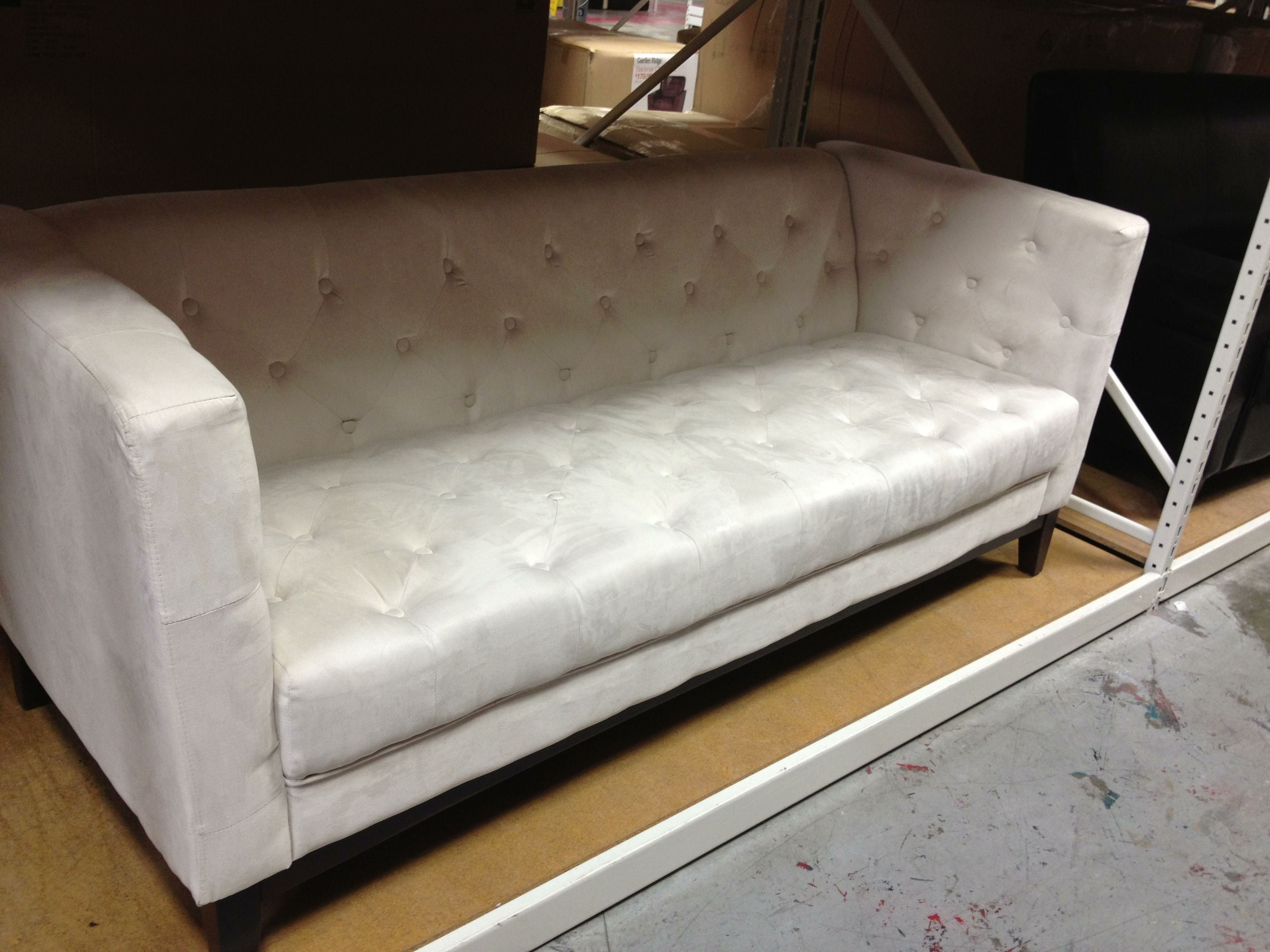 Microfiber chesterfield sofa $350 garden ridge