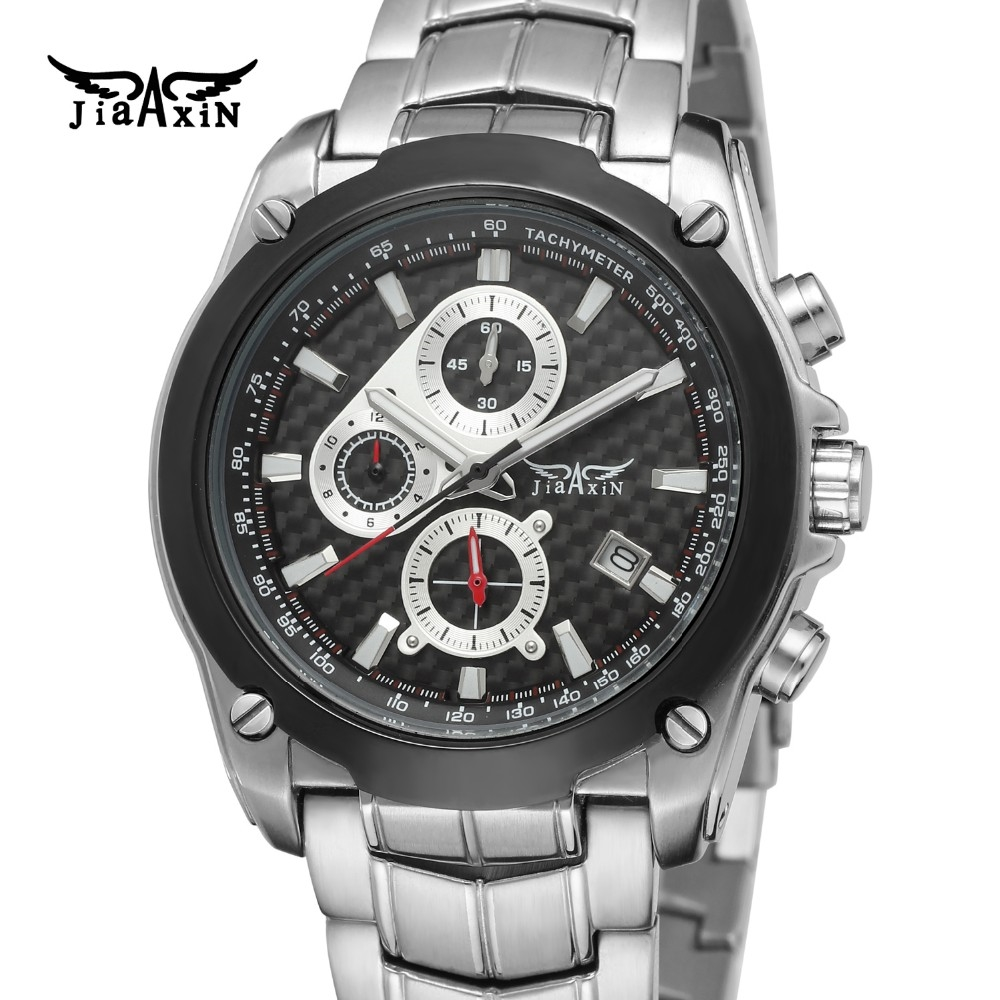 66.99$  Watch here - http://alipdd.worldwells.pw/go.php?t=32681008205 - Fashion Jiaxin Men Luxury Brand Calendar Stainless Steel Watch Automatic Quartz Japan Movt Wristwatches Gift Box Relogio Releges 66.99$