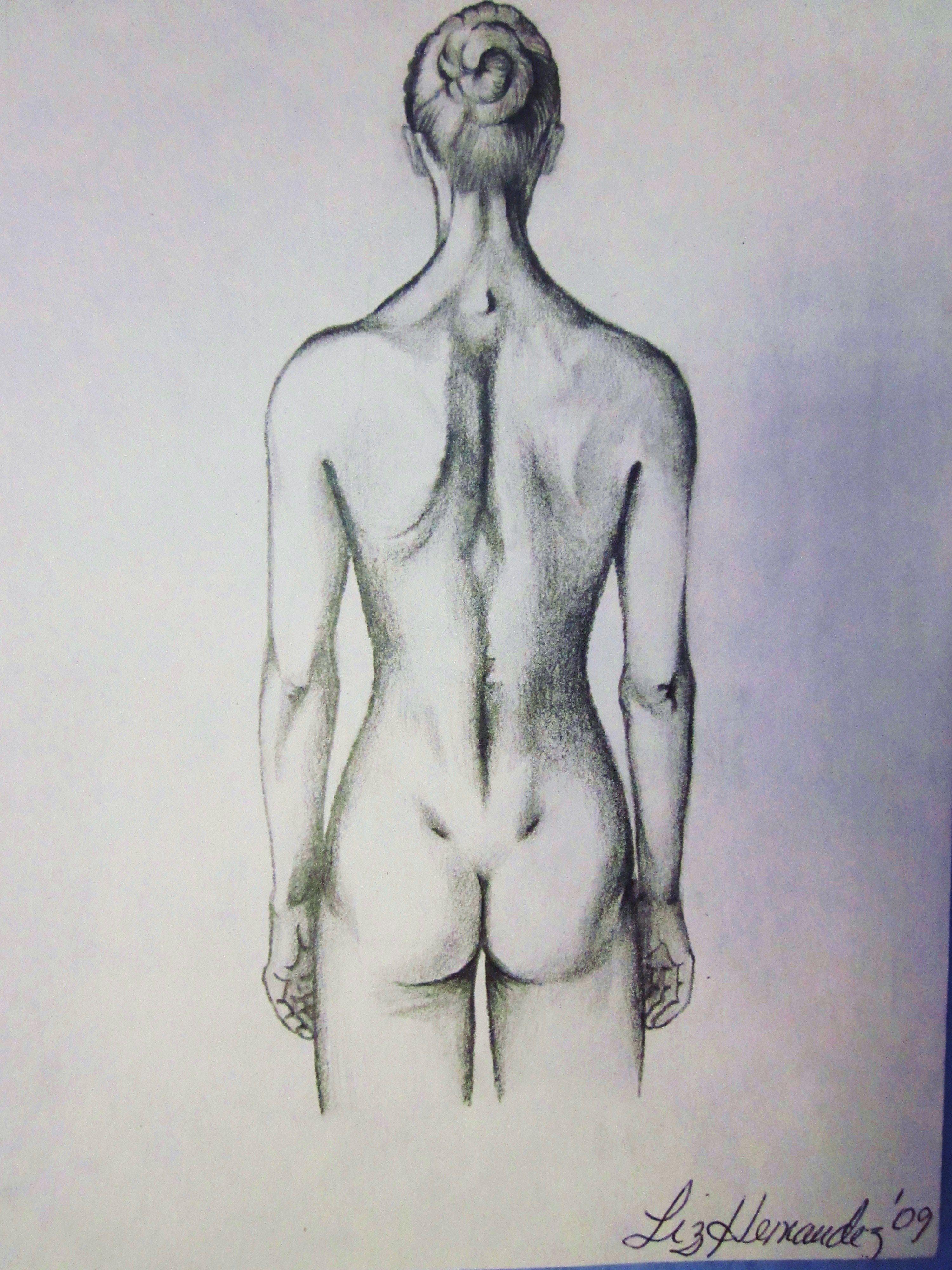 Espalda De Mujer Wwwlizhernandezartecom Aprendiendo A Dibujar