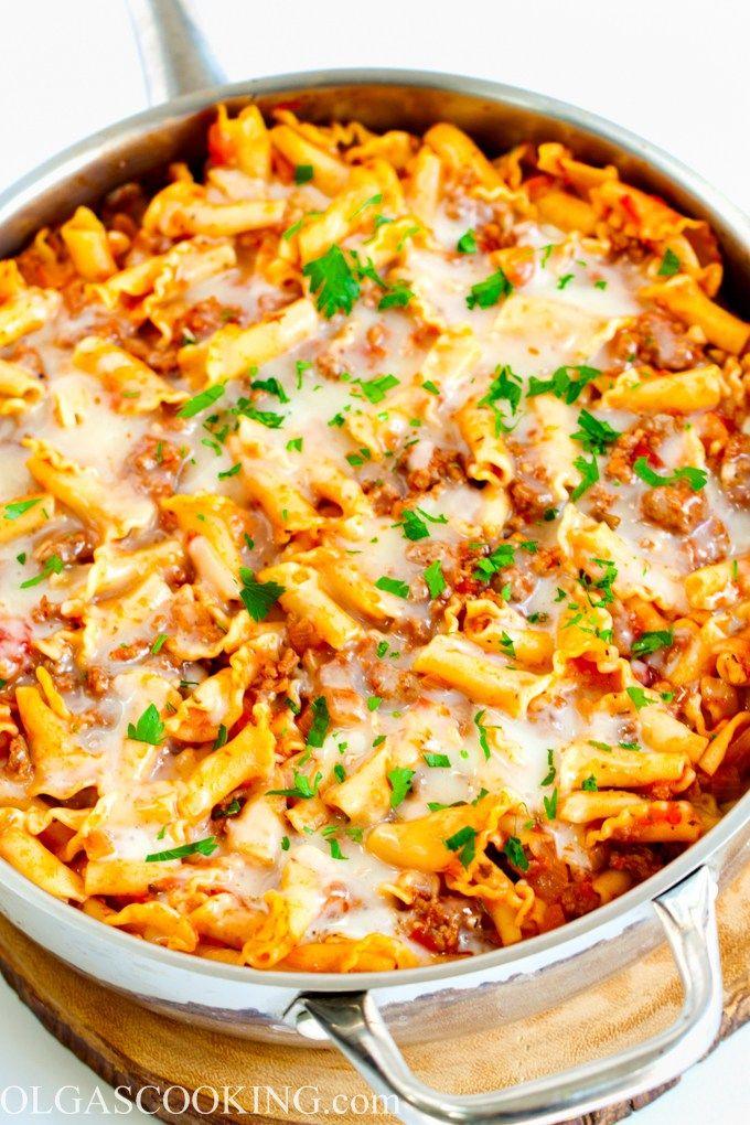 Lazy Lasagna Recipe (With images) Lazy lasagna