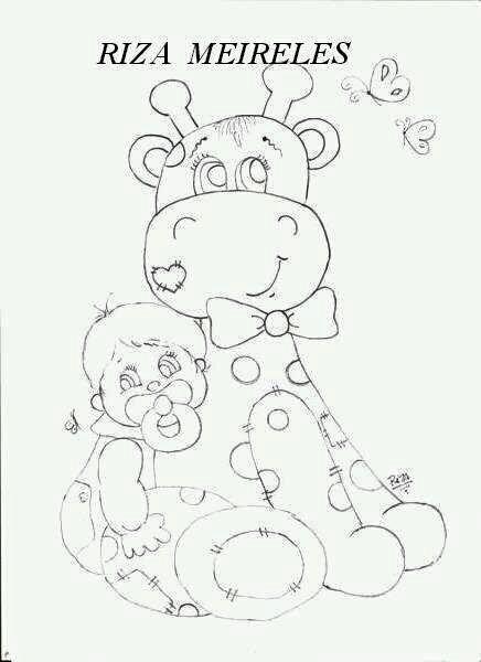 Resultado de imagem para bebés safari, para pintar em tecido ...