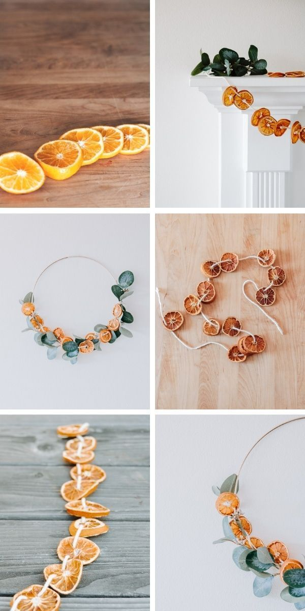 DIY getrocknete orange Girlande. Mache diese hübsche Girlande genau richtig