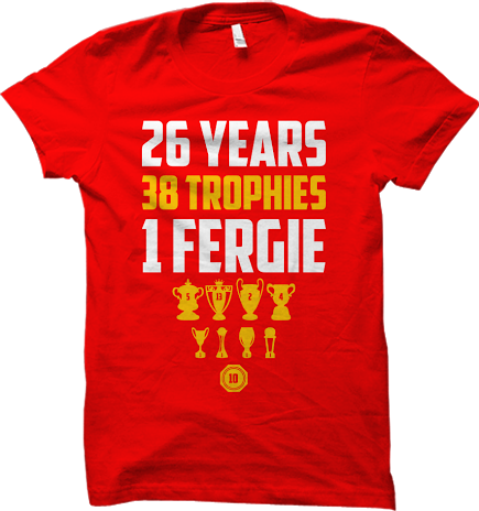 Sir Alex Ferguson Inspired T-shirt White Red Black Manchester United  Tee
