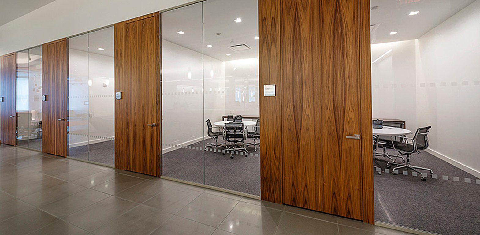 Exterior glass office door - Wood Office Swing Doors Panels Modernus