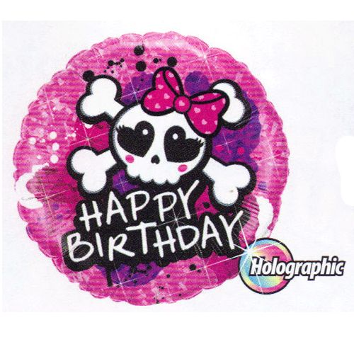 "Skull and Crossbones ""Happy Birthday"" Mylar Balloon"