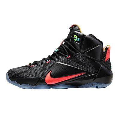 2cfb167acb02 Youth Nike LeBron Black Hyper Punch Volt Mango XII
