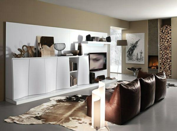 Dekoartikel Im Luxus Wohnzimmer Wei Er Schrank Mit Einem