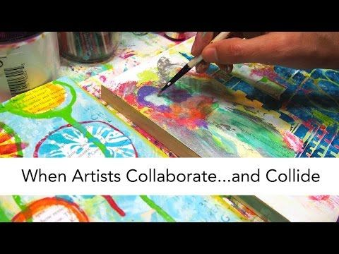 When Artists Collaborate…or Collide. See how Carolyn Dube and Kirsten Reed play off each other using StencilGirl stencils.