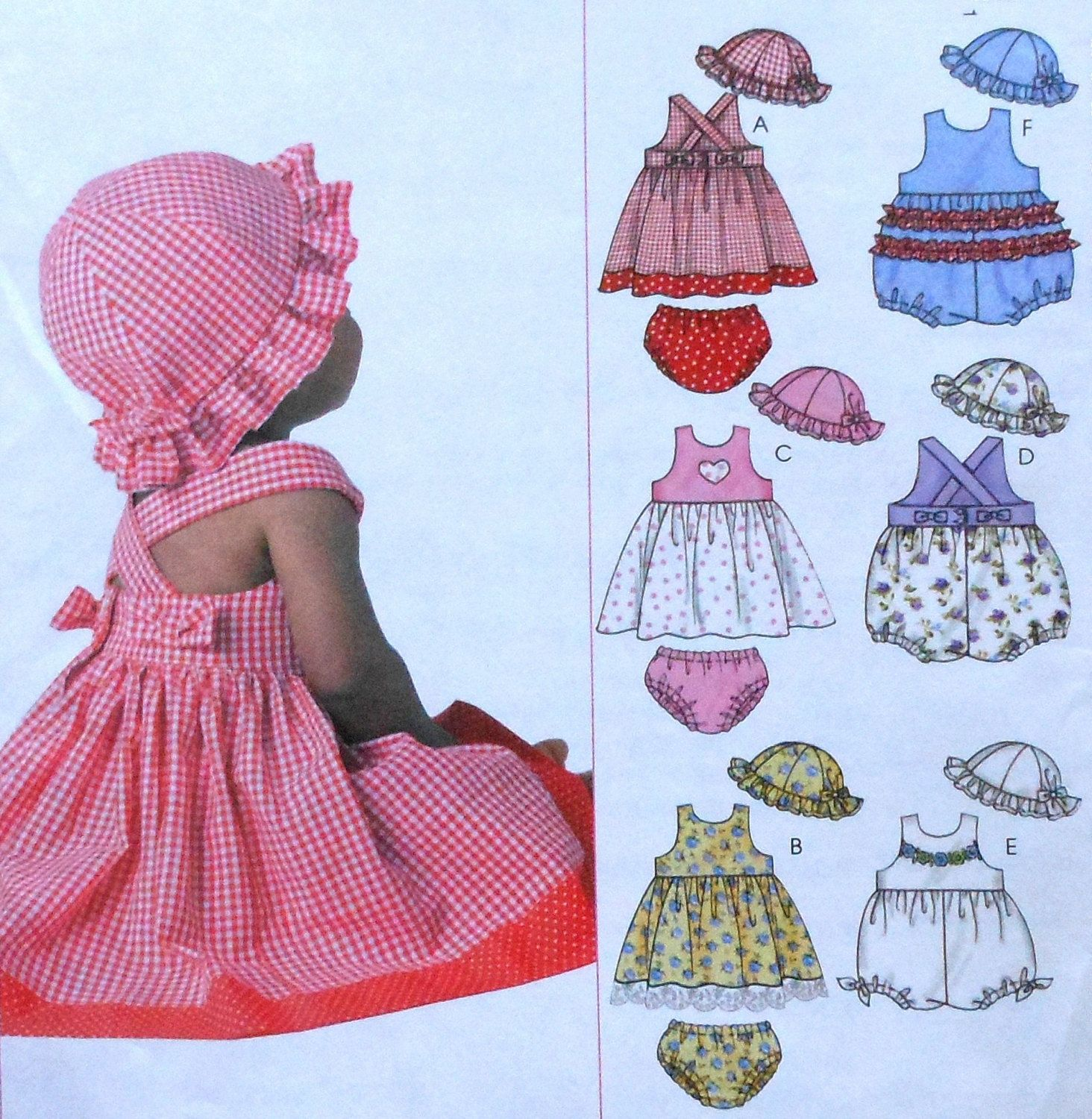 Baby Dress Rompers and Panties Sewing Pattern UNCUT McCalls M4424 ...