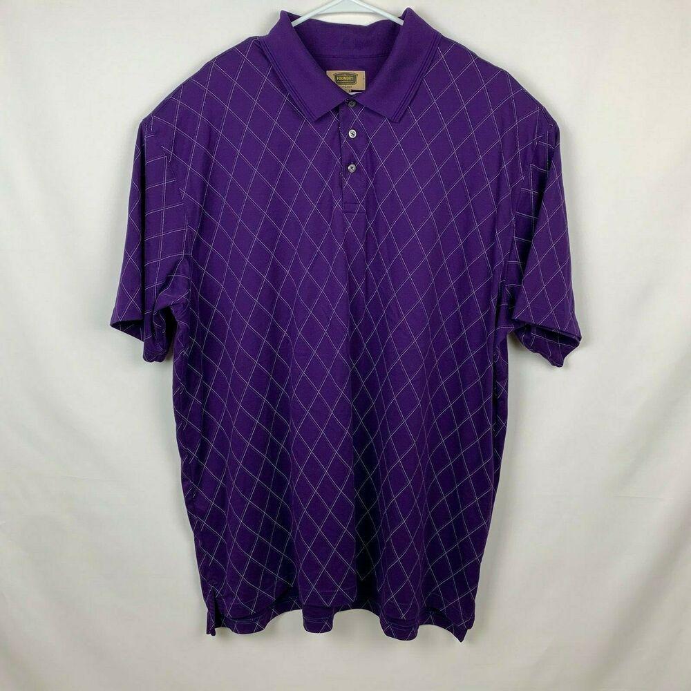 5e9f9e7c The Foundry Polo Golf Short Sleeve Shirt Mens Size XXXXL 4XL Red ...