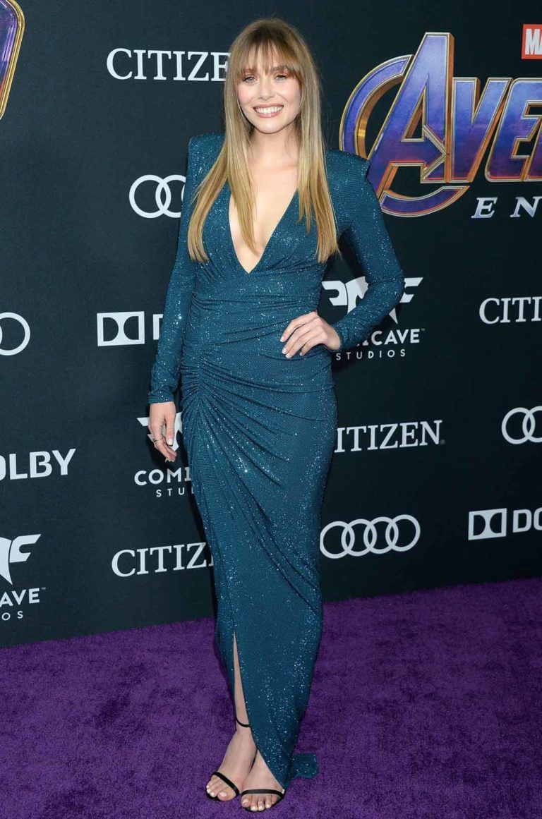 Elizabeth Olsen Attends Avengers Endgame Premiere Los Angeles Celebvegas Elizabeth Olsen Elizabeth Olsen Scarlet Witch Elizabeth Olsen Style
