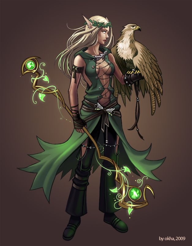 Shapeshifter Character Design : Druid by okha viantart on deviantart game design