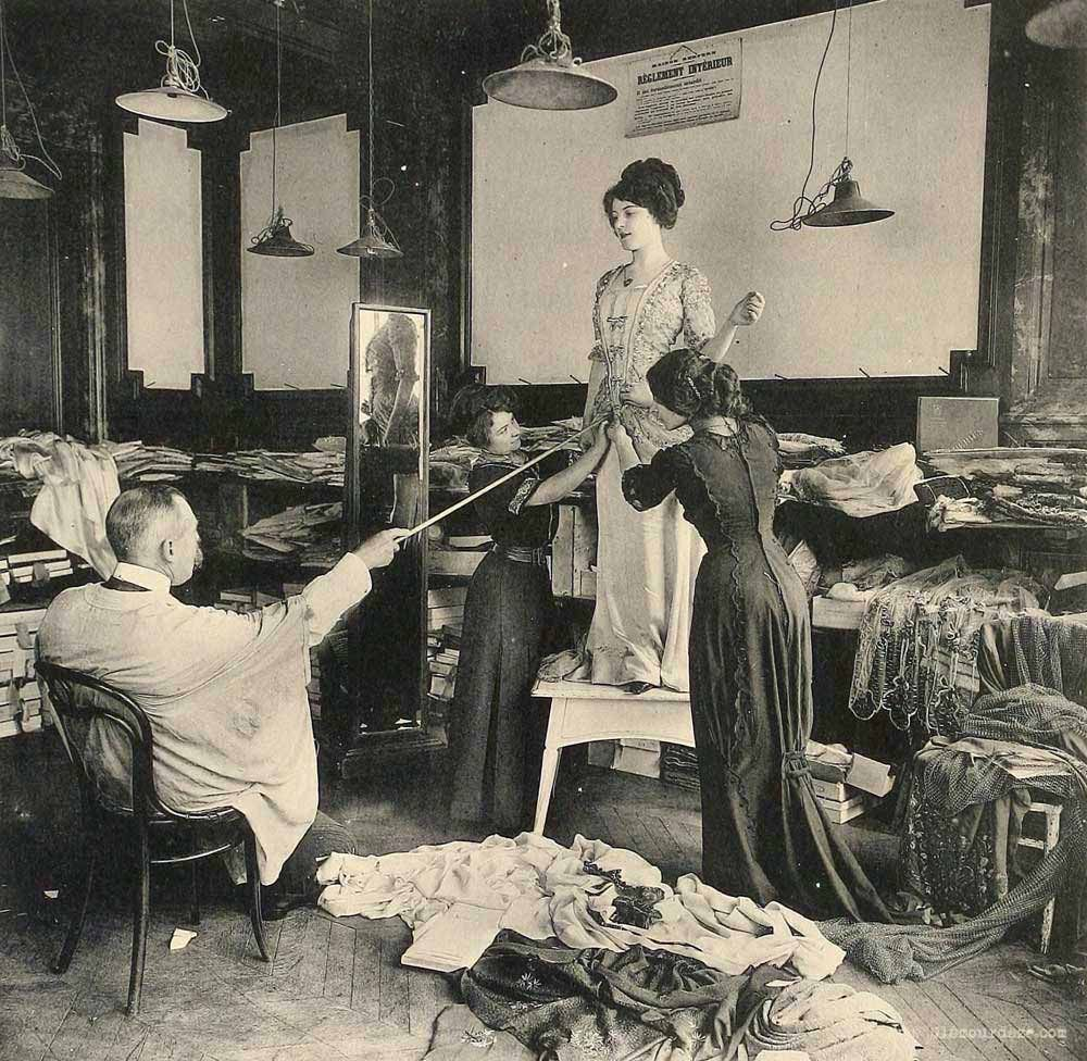 Working in the paris fashion industry years ago haute couture
