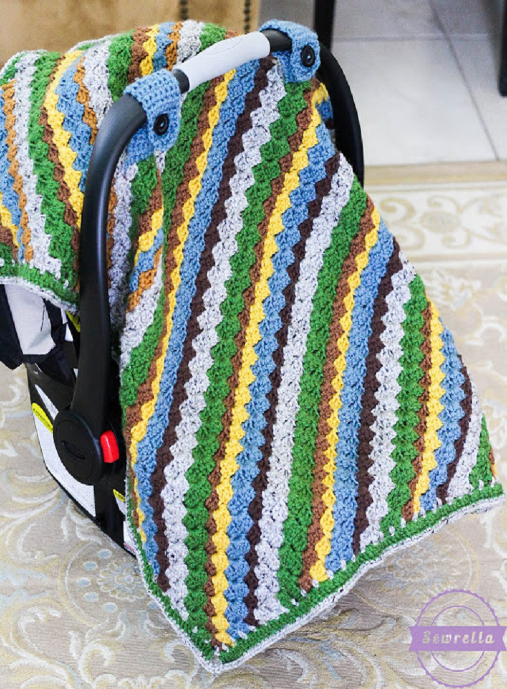 Sequoia Crochet Car Seat Canopy