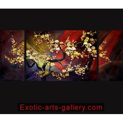 Abstract Paintings on Canvas Painting Japanese Cherry Blossom Painting 0042 Fengshui-paintings.com,http://www.amazon.com/dp/B002OV473Y/ref=cm_sw_r_pi_dp_33pYsb08NS1T7DAQ