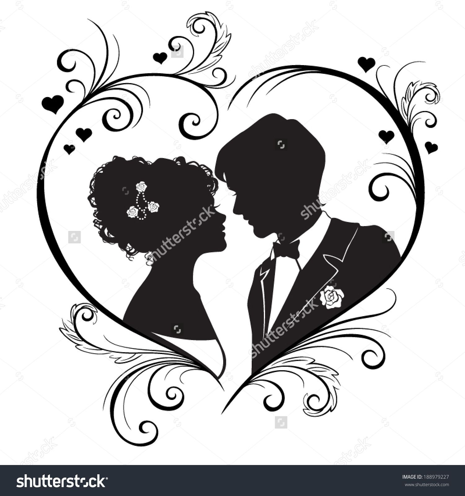 8 x BRIDE /& GROOM WEDDING SILHOUETTE  #4 Die Cuts Quality Black Card