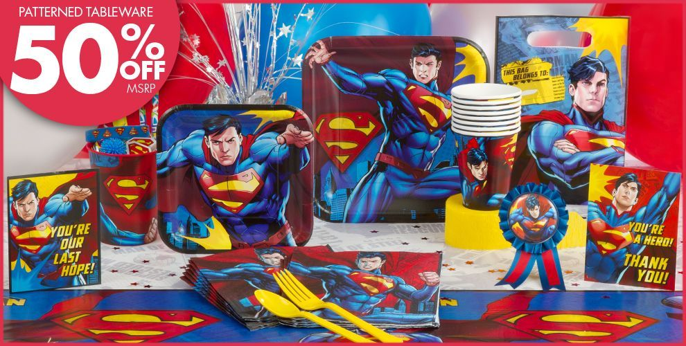 Superman Party Supplies Superman Bacon Party Pinterest