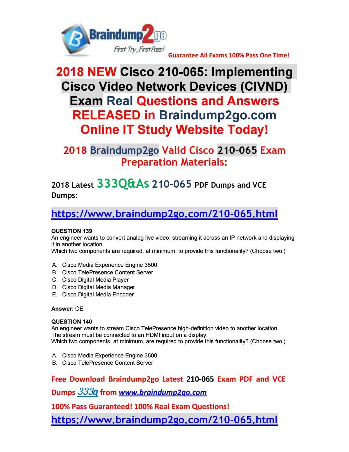 2018 jan version)braindump2go new cisco 210 065 vce dumps free share(2018 jan version)braindump2go new cisco 210 065 vce dumps free share!(q139 q149)
