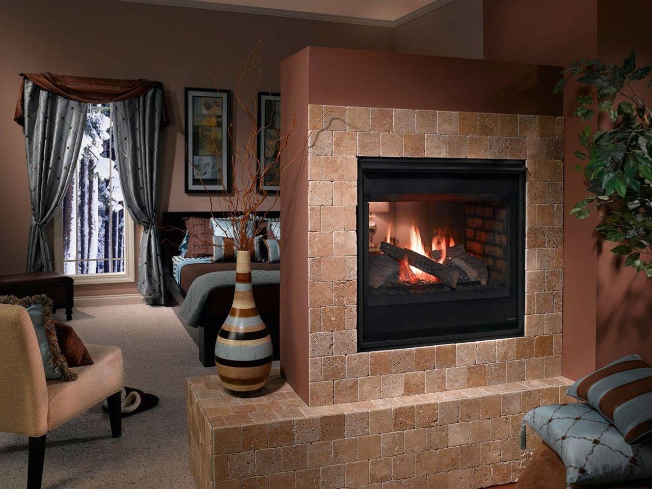 small stone tile fireplace fireplace ideas pinterest tiled