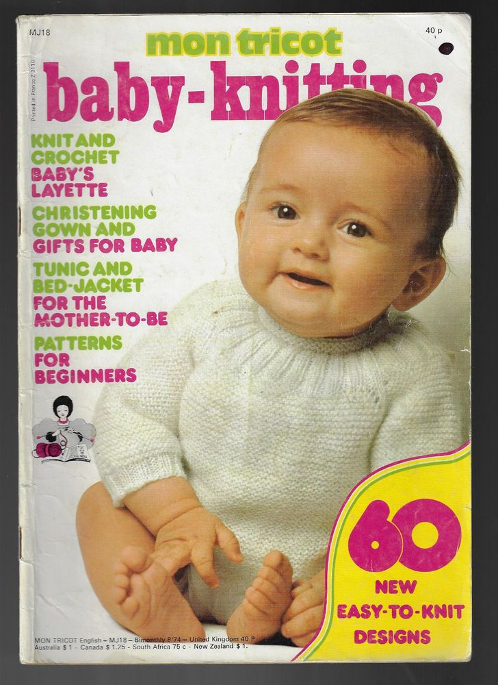 Mon Tricot Baby Knitting MJ 18 vintage knitting magazine 1974