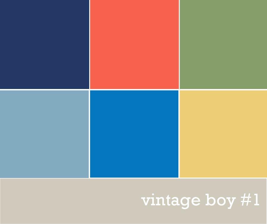vintage boys 39 color palette colors pinterest green. Black Bedroom Furniture Sets. Home Design Ideas