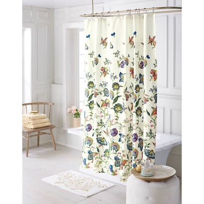 Jacobean Shower Curtain Floral Threshold Target In 2020 Curtains Floral Shower Curtains Floral Bathroom