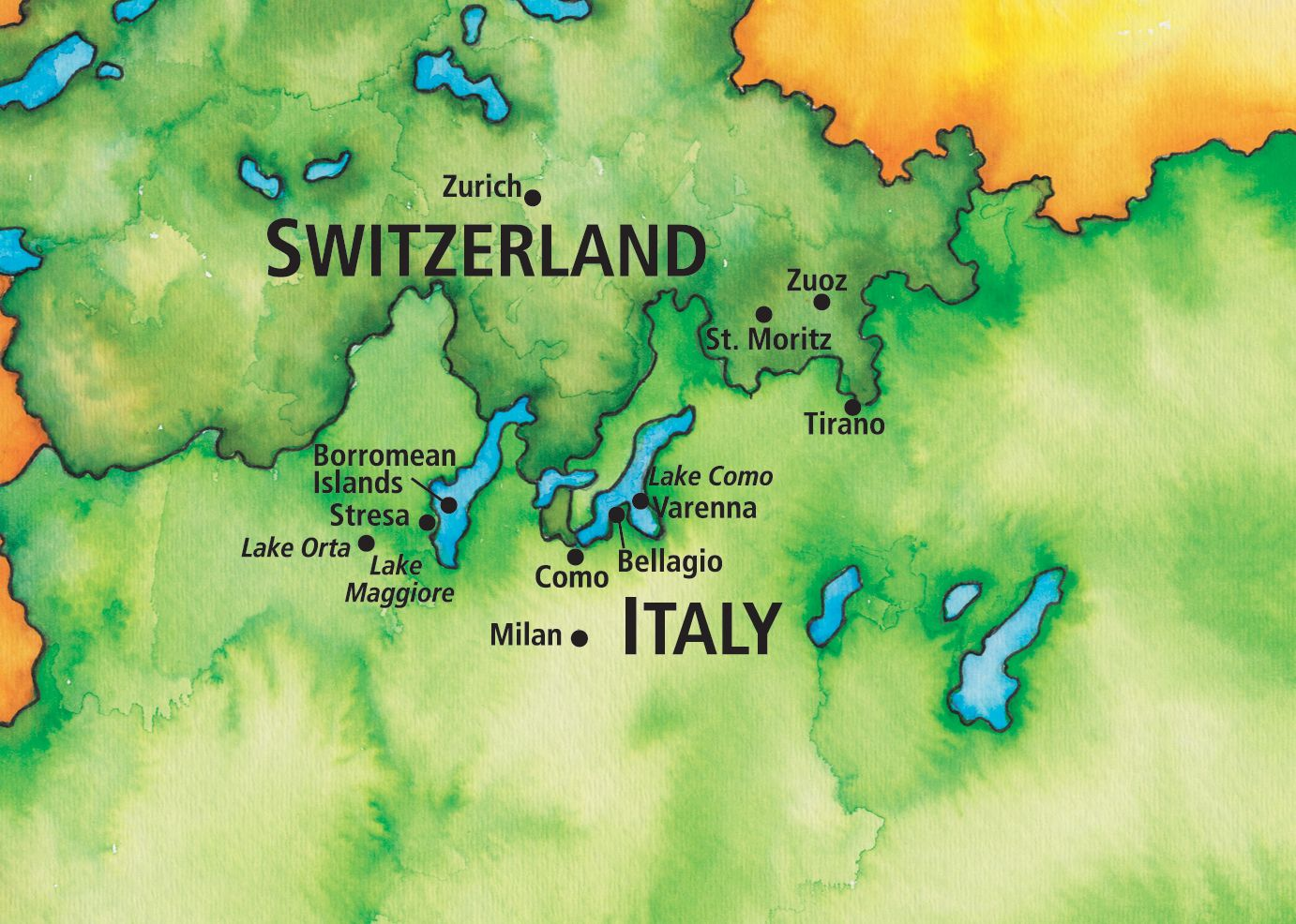 Map Of Italy And Switzerland.Image Result For Lake Orta Italy Map Northern Italy Switzerland