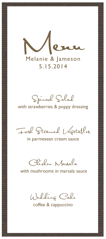 Printable Menu Card  Free Menu Templates Printable