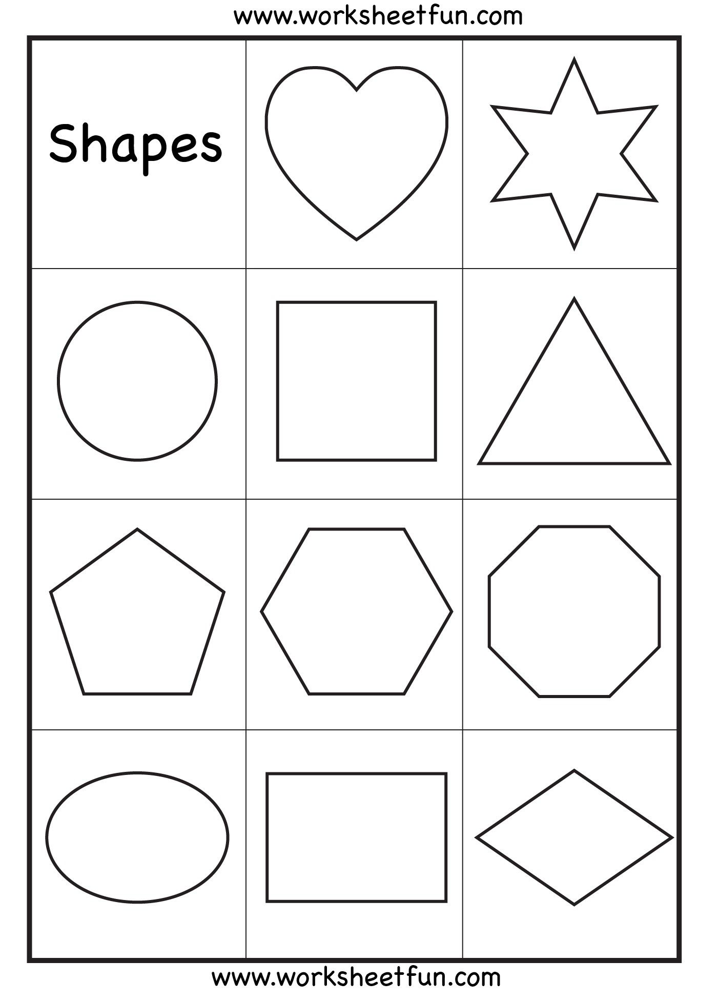 4 Worksheet Shape It Up