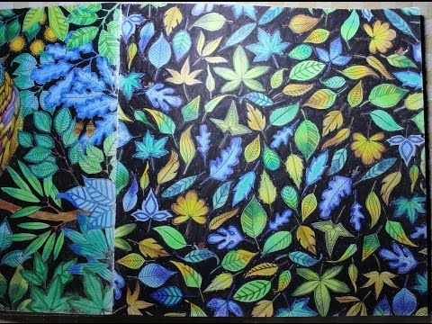 Secret Garden Coloring Book | Leaves | Page 6 - YouTube | SECRET ...