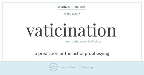Word Of The Day Vaticination Unique Words Definitions Uncommon Words Word Of The Day