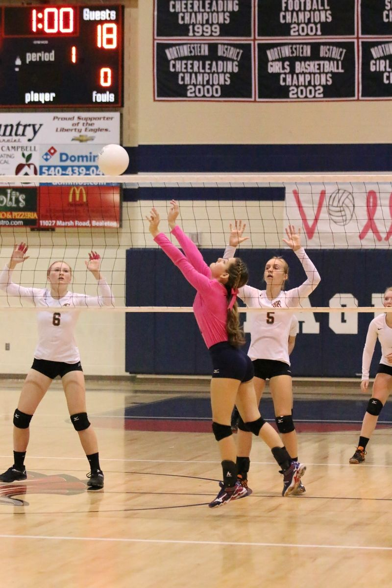 Basketball Girls By Talon Yearbook On 2016 Liberty High School Volleyball Dig Pink Volleyball Dig Cheerleader Girl