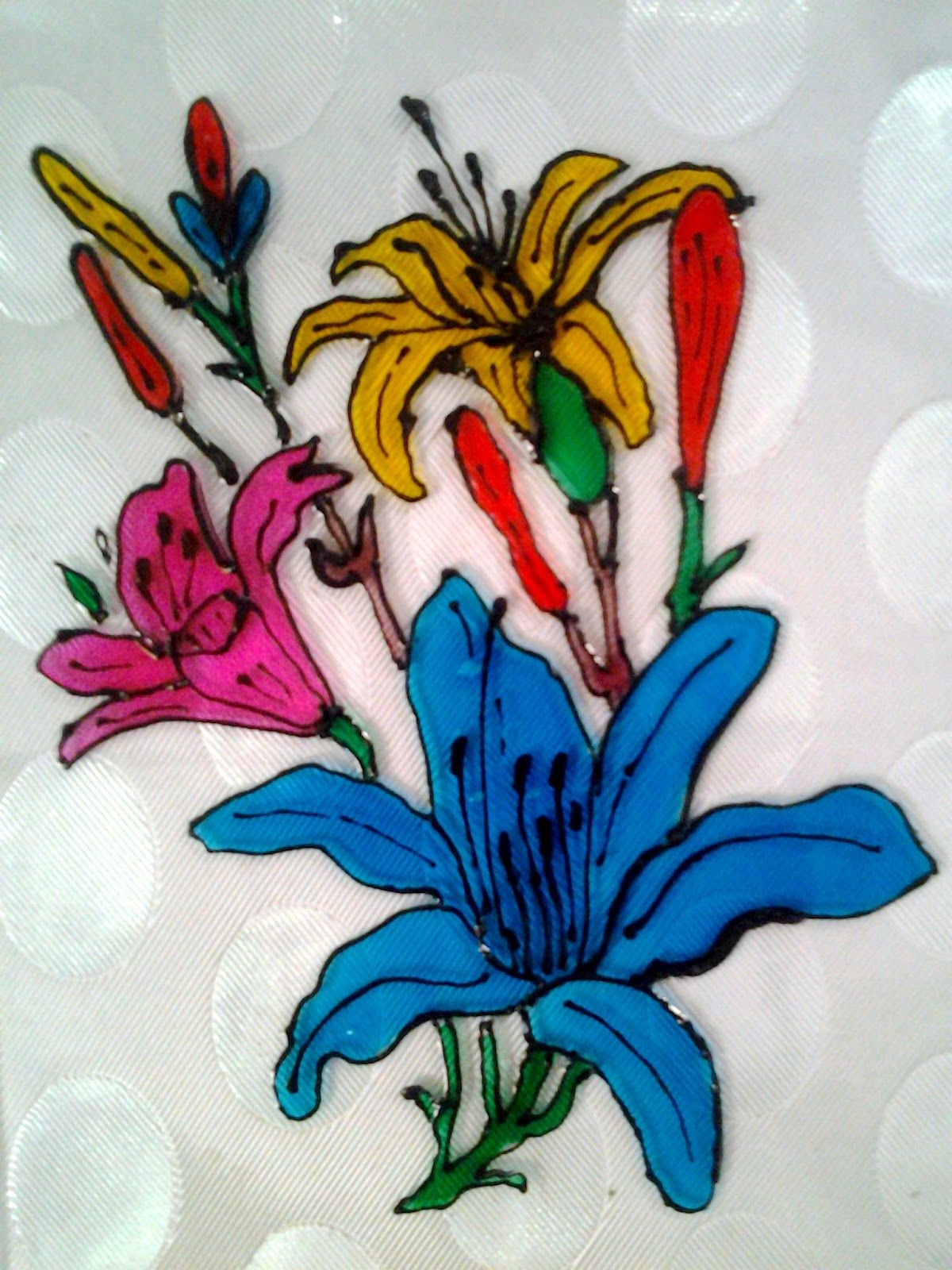 Explore Your Talent Glass Painting Beautiful Flowers Art Work