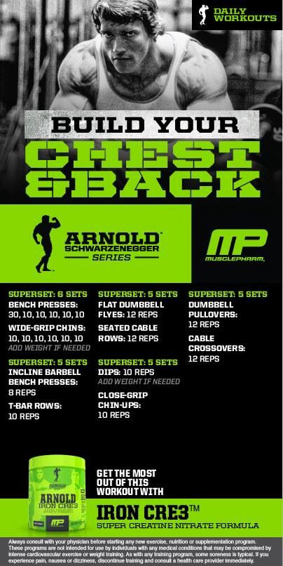 Arnold: Build your chest and back | MP workout ...