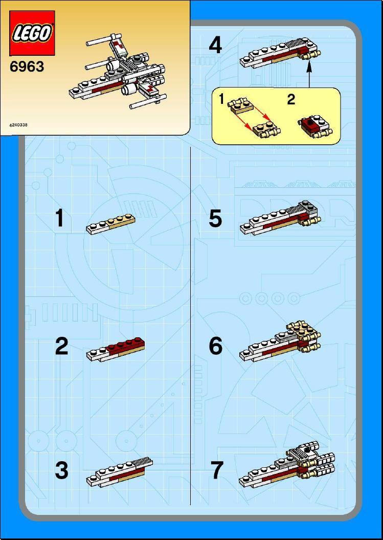 Star Wars Mini X Wing Fighter Lego 6963 Lego Pinterest