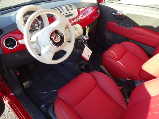 2013 FIAT 500 Lounge For Sale | Wilmington NC . Red on Red Interior ...