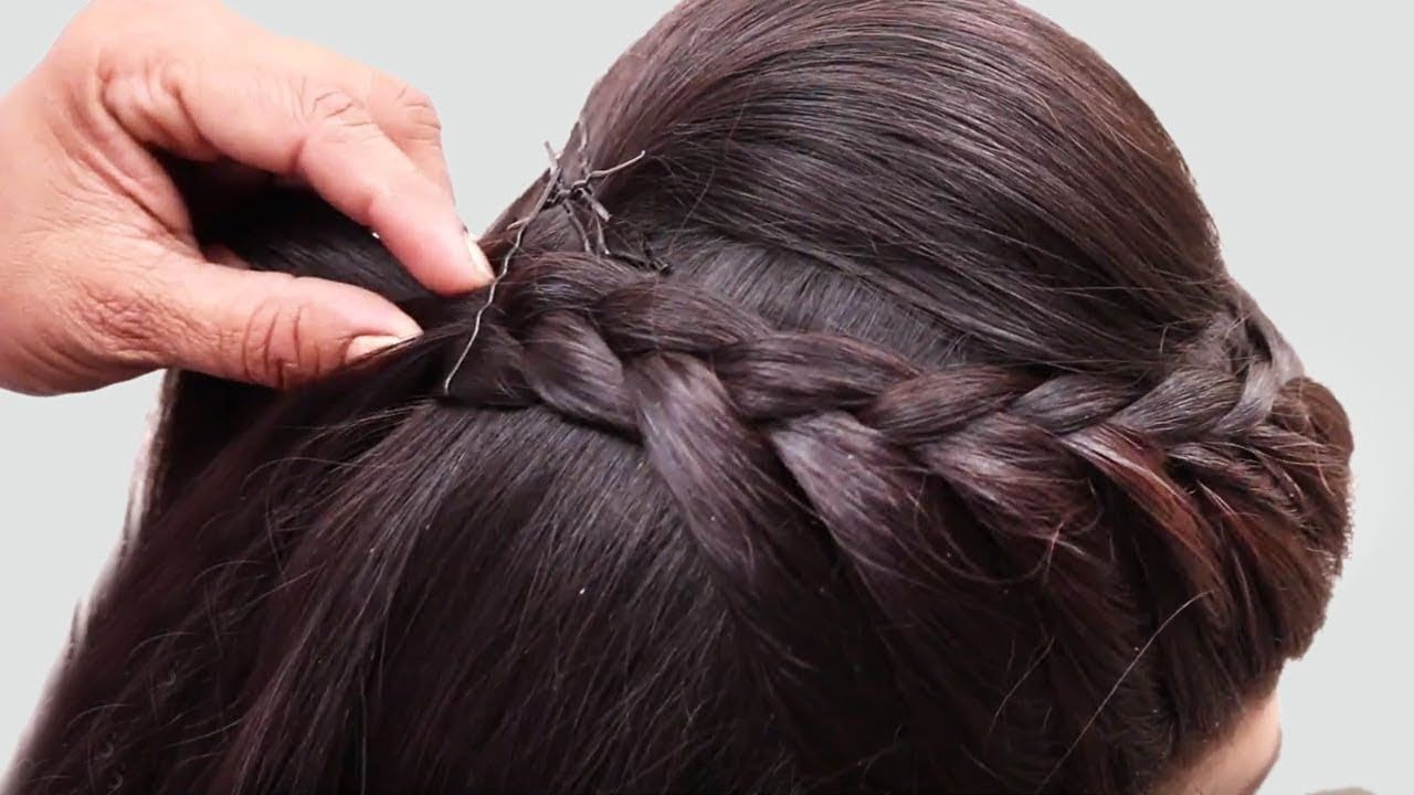 Hairstyles Of Wedding Party In 2020 Hair Styles Braided Bun Hairstyles Prom Hairstyles For Long Hair
